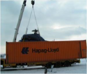 Załadunek nietypowego ładunku do kontenera Open Top