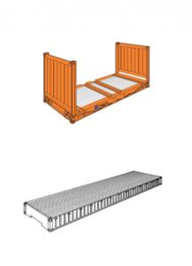 Kontener Flat Rack i kontener Platforma